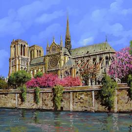 Notre Dame In Primavera by Guido Borelli