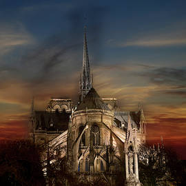 Notre Dame Paris by Evie Carrier