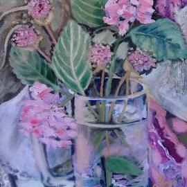 Irina Stroup - Bouquet with hydrangea and garlic bloom