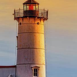 Nubble Light York Maine Sunset by Edward Fielding