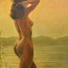 Model On The Water by Italian Vintage Eros
