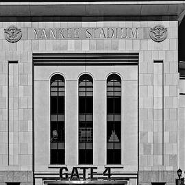 Ny Yankee Stadium Gate 4 Bw by Susan Candelario