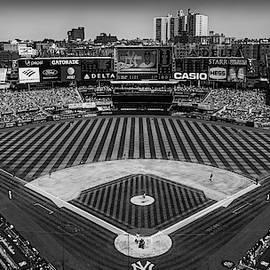 Ny Yankees Stadium Bw by Susan Candelario
