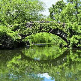 NYC Gapstow Bridge in Spring Greens by Regina Geoghan