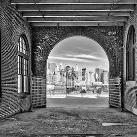 Nyc Skyline View Bw by Susan Candelario