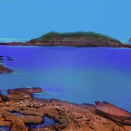 Painted Bare Island From 1800s by Miroslava Jurcik