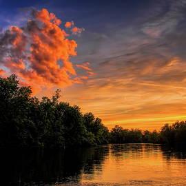 Oak Island Sunset Cloud by Dale Kauzlaric
