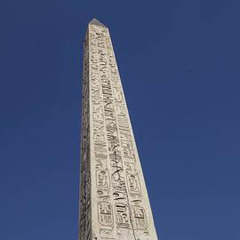Obelisk at Place de la Concorde in Paris by Patricia Hofmeester