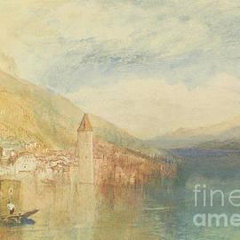 Oberhofen On Lake Thun, Switzerland by Joseph Mallord William Turner