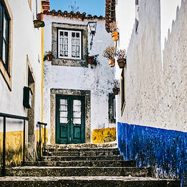 Obidos Alley Steps - Portugal by Stuart Litoff