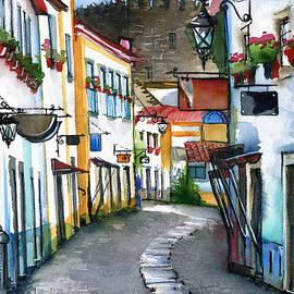 Obidos Portugal by Dora Hathazi Mendes