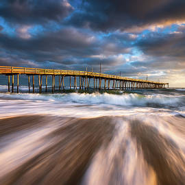 OBX NC Beach Seascape Nags Head Outer Banks North Carolina by Dave Allen