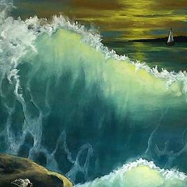 Ocean waves by Danett Britt