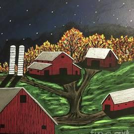 October Moon Shadows by Jeffrey Koss