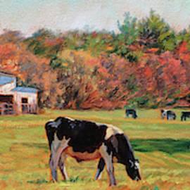 October Sunshine - Dairy Farm in Autumn by Bonnie Mason