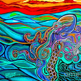 Octopus At Sunset by Genevieve Esson