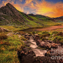 Ogwen Lake and Tryfan Snowdonia  by Adrian Evans