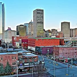 OKC from the Parking Garage by Frozen in Time Fine Art Photography