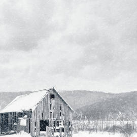 Old Barn Snowstorm by Edward Fielding