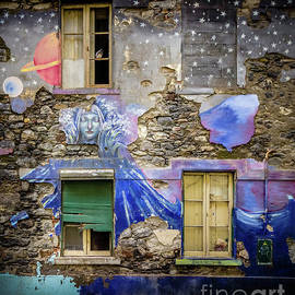 Old Building Mural in Funchal, Madeira, Portugal 3 by Liesl Walsh