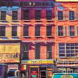 Old Buildings 6th Avenue - Vintage N Y C Architecture - Painterly by Miriam Danar