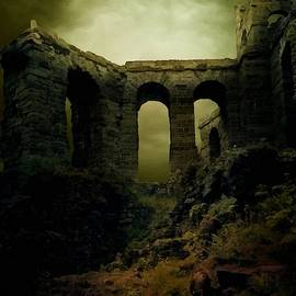 Old Castle Ruins Near Hurterhurst L A S  by Gert J Rheeders