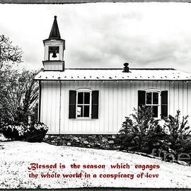 Old City Cemetery Chapel Christmas Card by Norma Brandsberg
