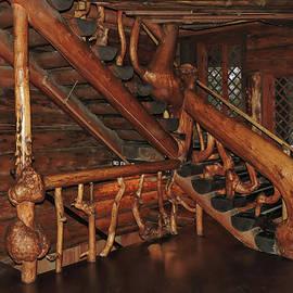 Old Faithful Inn Woodwork by Norma Brandsberg