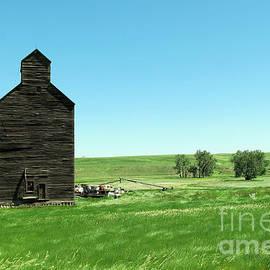 Old grain silo near Cartwright North Dakota by Jeff Swan