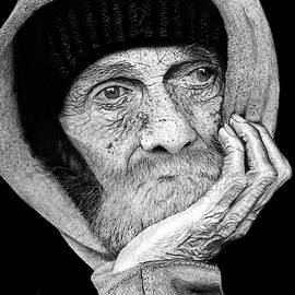 Old Homeless Man by James Schultz