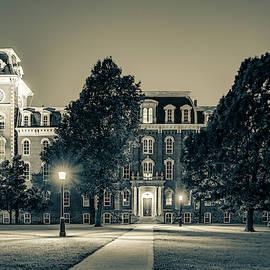 Old Main At Twilight - University Of Arkansas - Sepia by Gregory Ballos