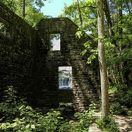 Old Mill and Waterfall 2 by Judy Vincent