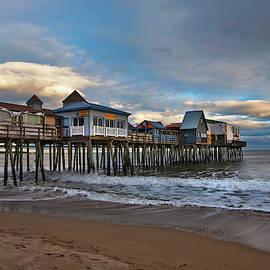 Joann Vitali - Old Orchard Beach Pier Sunset