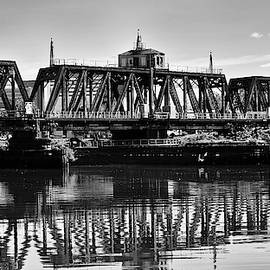 Old Railroad Swing Bridge by Louis Dallara