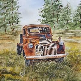 Virginia Plowman - Old red vintage truck