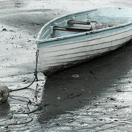 Old rowboat with a buoy by Alexey Stiop