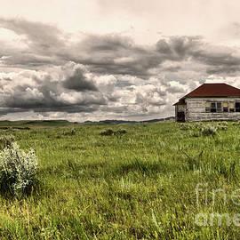 Old school house on the prairie  by Jeff Swan