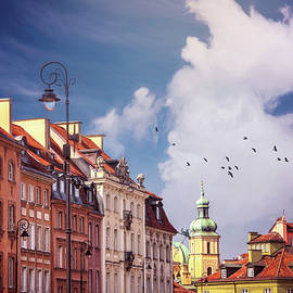 Old Town Rooftops Warsaw Poland by Carol Japp