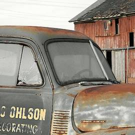 Old Truck and Barn by Carmen Macuga