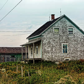 Old Weathered House In Atlantic Canada by Tatiana Travelways