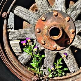 Old Wheel by Lillian Bell