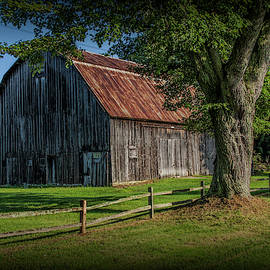 Old Wooden Weathered Barn by Randall Nyhof