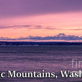 Olympic Mountains, Washington by G Matthew Laughton