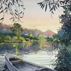 Dusk on Malibou Lake  by Luisa Millicent