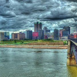 On The Other Side 2 The Gateway Arch St Louis Missouri Cityscape Art by Reid Callaway