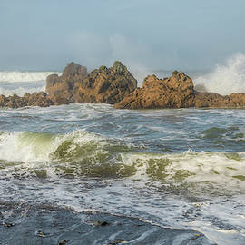 On the Rocks at DeMartin Beach 01065 by Kristina Rinell