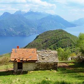On The Trail To Rifugio Menaggio Lake Como Italy II by Joan Carroll