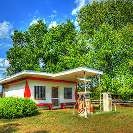 Once Upon A Time Antique Esso Filling Station ExxonMobil Art by Reid Callaway