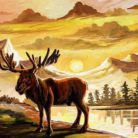 Lone Moose by Anthony Mwangi