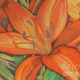 Orange Daylilies by Sharon Patterson